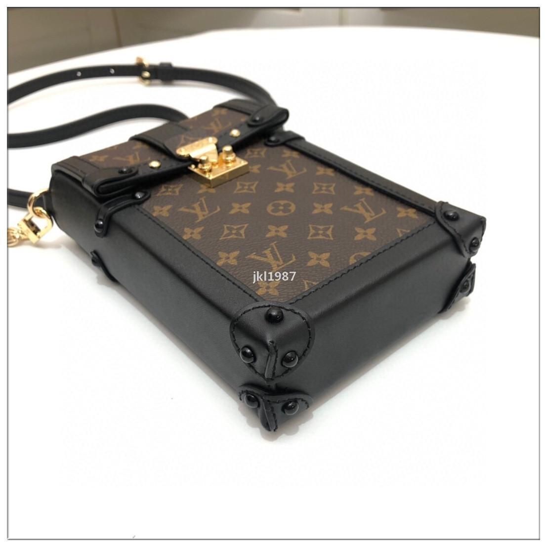 luxoDesigner J331 2020 Hot Luxury Bolsas mulher bolsa de couro real Fashion Square Box Atacado - Designer Clutch Bag Shoulder Messeng