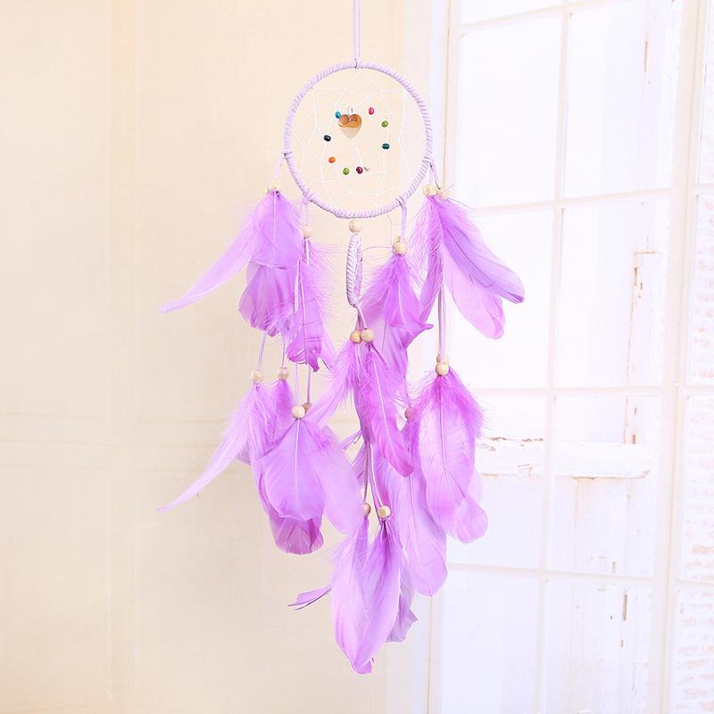 LED Light Dream Catcher Handmade Feathers Car Home Wall Hanging Decoration Ornament Gift Dreamcatcher Wind Chime Party Decoration DBC BH3215