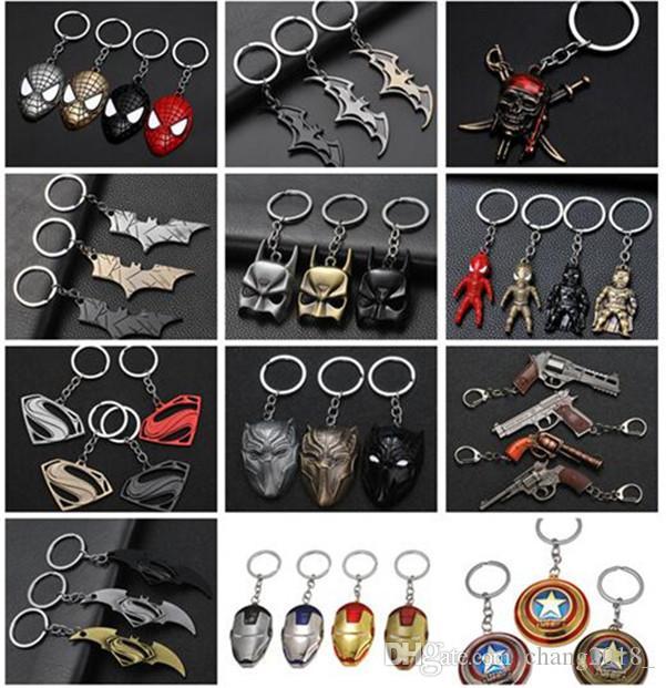 17 styles Avengers Superman Keychain Superhero S Logo Key Chain High Quality Keyring for Women Men Fans Jewelry 04 jssp01