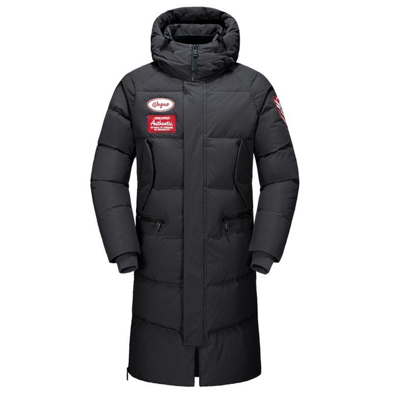 Giacca Nizza inverno degli uomini X-Long Down Jacket maschile Thick Parka Slim Cappotto Nero Uomo Abbigliamento Soprabito Casaco Masculino Uomo Abbigliamento