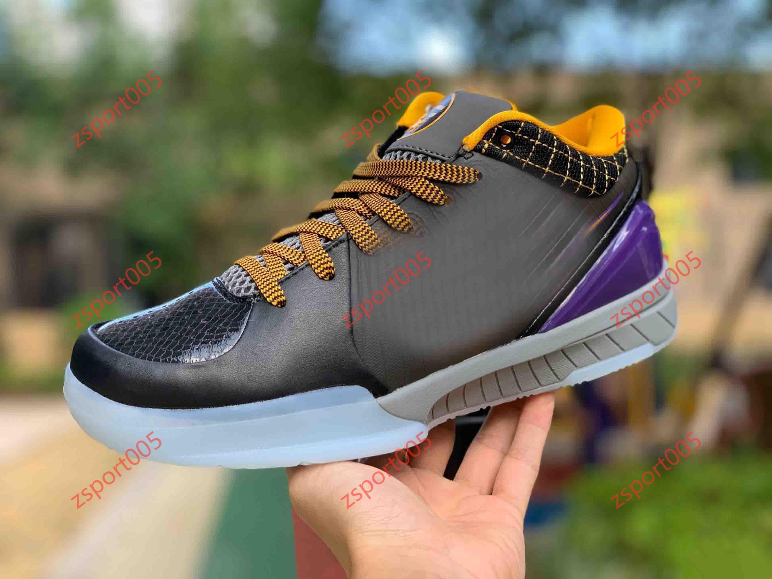 Nike Zoom Kobe IV 4 Protro Carpe Diem مصمم الأزياء الفاخرة قبالة كرة السلة فاخرة الرجال النساء أحذية الرجال أعلى ارتفاع حذاء أبيض تشغي