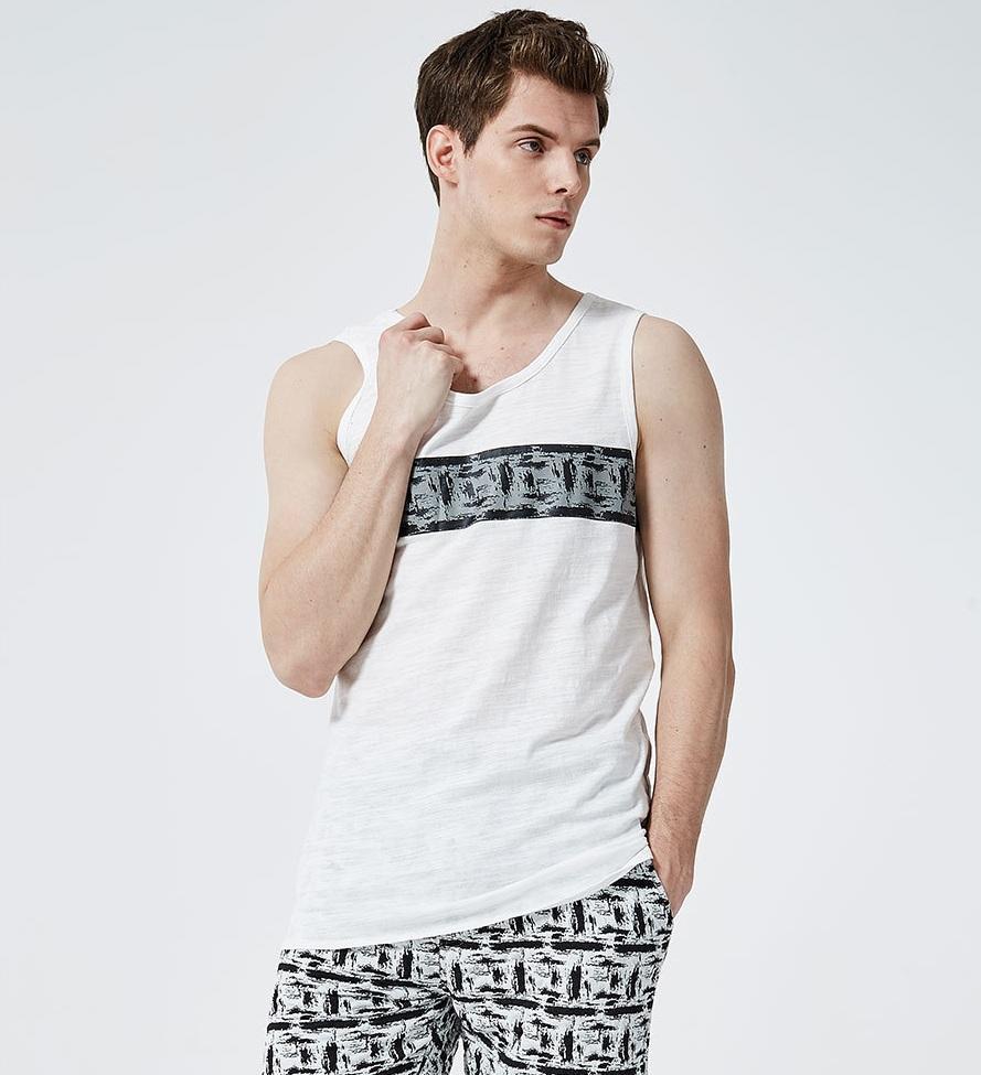 2019 designer de Nova Verão Homens O-Neck Vest Arrefecer Street Style solto mangas Garment Euro Tamanho alças ocasional Jogger Vest atacado