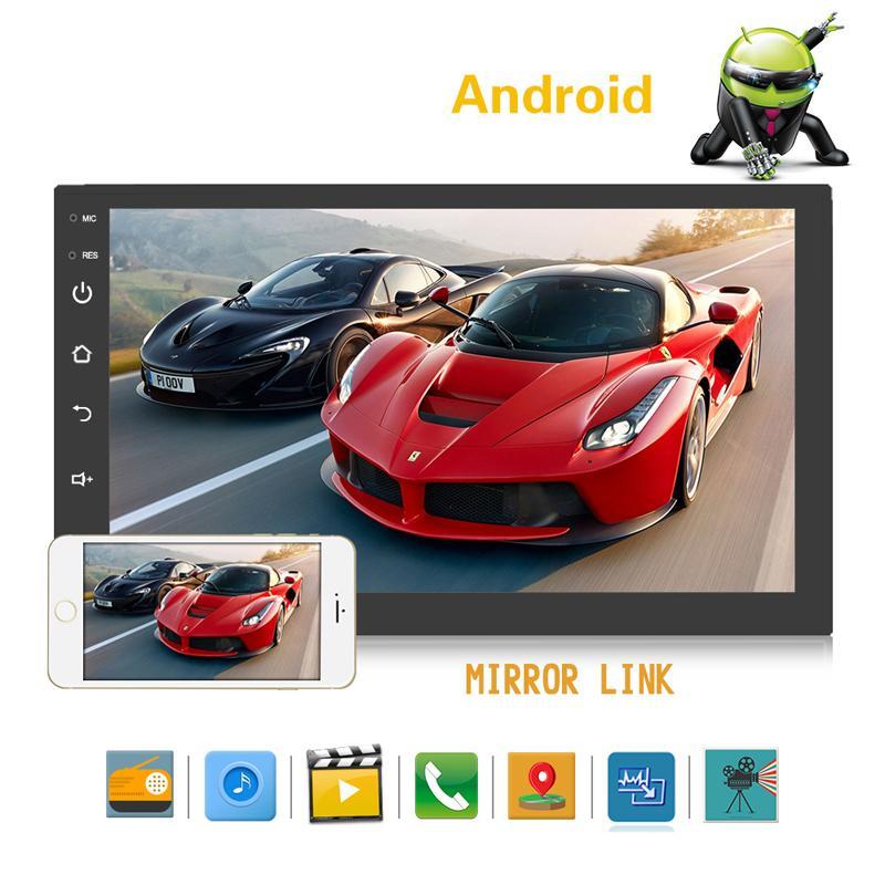 Novo carro dvr player 7 polegadas andróide universal máquina navegação mp5 jogador gps navegação integrada mp3MP4 rádio