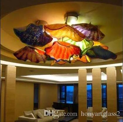 ضربة يد لوحات زجاج مورانو مورانو جدار الفن الفن الحديث زجاج السقف مصابيح الجدار لوحة ديكور المنزل الجدار الزجاجي الإنارات