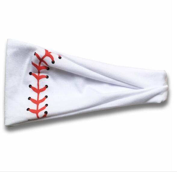 2020 Baseball Sports Headband Women Men Softball Football Team Hair Bands Sweat Headbands Yoga Fitness Scarf Sport Towel 20 styles