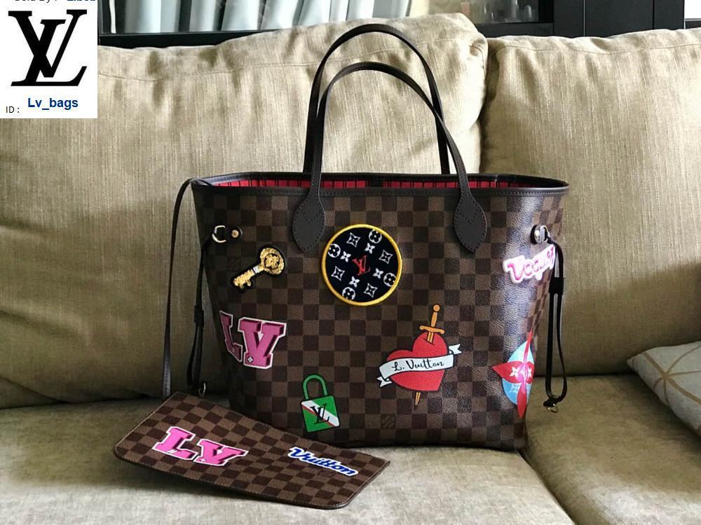 Yangzizhi New 19 Years Badge Checkerboard Handbags Bags Top Handles Shoulder Bags Totes Evening Cross Body Bag