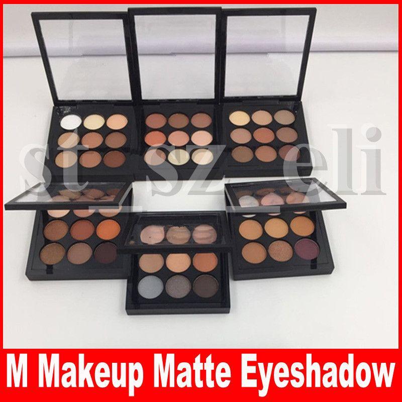 M Eye Makeup Eyeshadow X 9color Natural Matte Satin Eyes Pro Color 9 Compact Makeup Eye Shadow Palette