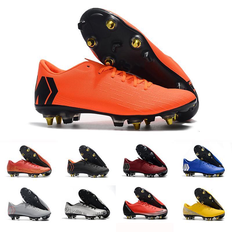 Chaussure de foot pas cher jaune pour homme Mercurial superfly 360 VII Elite SG AC football Crampons chaussures de football Neymar
