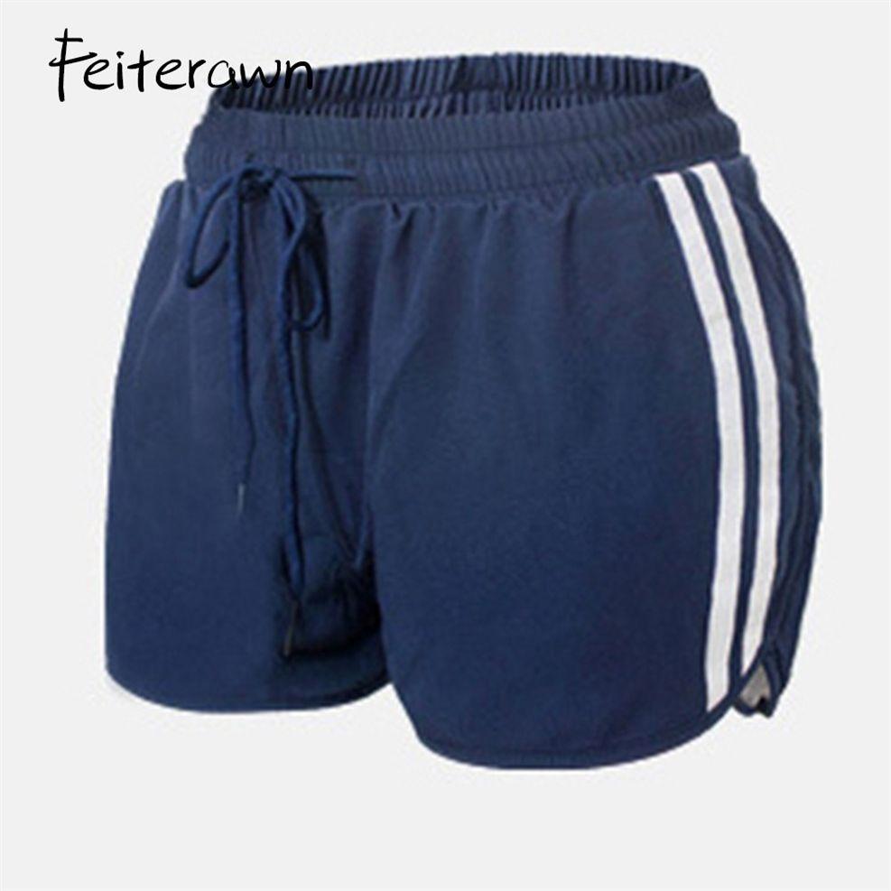 Para estrenar 5ddb7 7187e 2019 Stripe Yoga Shorts Deportivo Mujer Pantalon Corto Deporte Running  Cycling Gym Yoga Shorts For Ladies Fitness Clothes YY88088 #249484 From ...