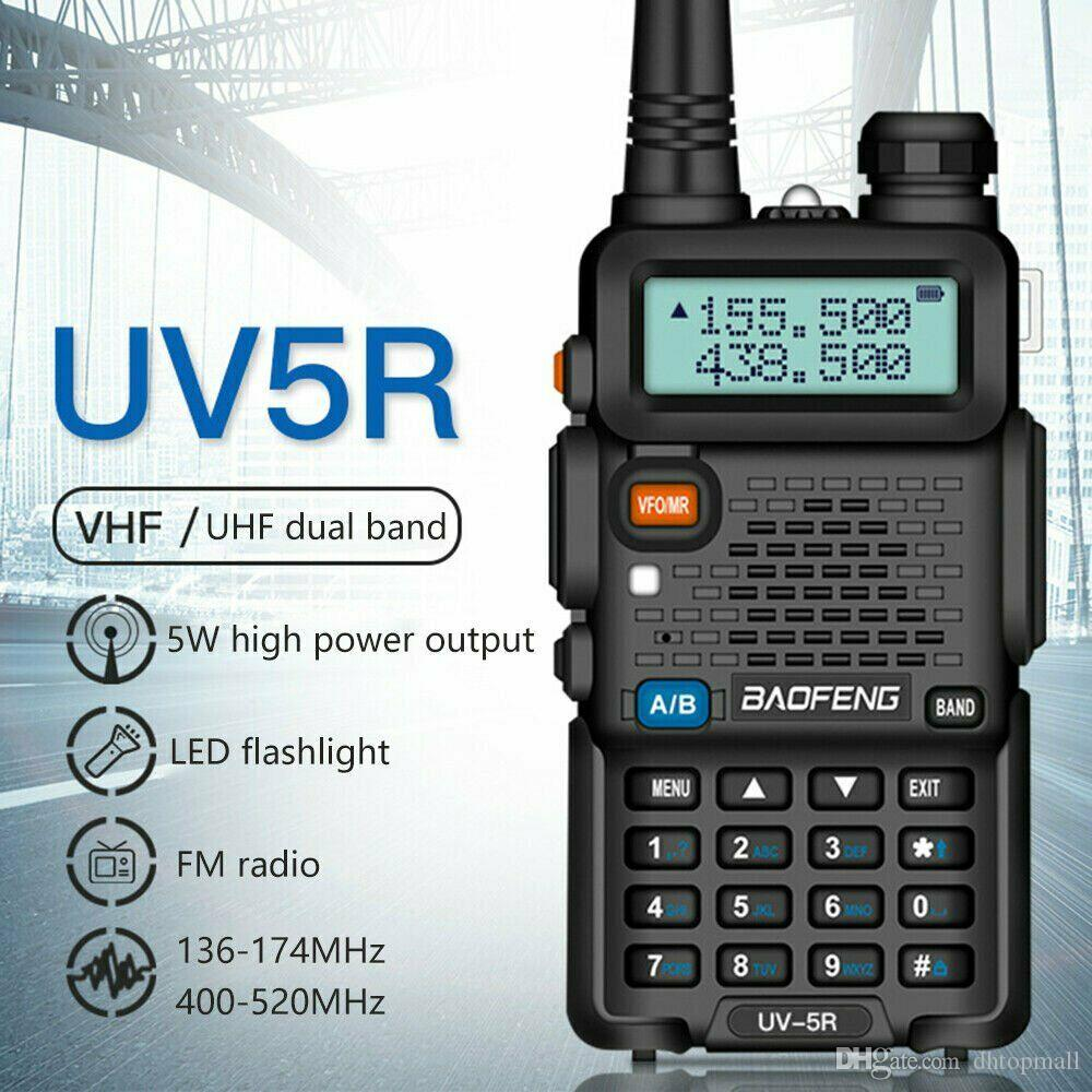 BAOFENG 1.5inch LCD 5W 136~174MHz / 400~520MHz Dual Band Walkie Talkie with 1-LED Flashlight Free Shipping