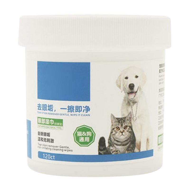 Grooming Pet Wipes for Dogs Cats Other Pets to Clean the Tear Stains 120 Pcs/lot Dog Houses Kennels Accessories