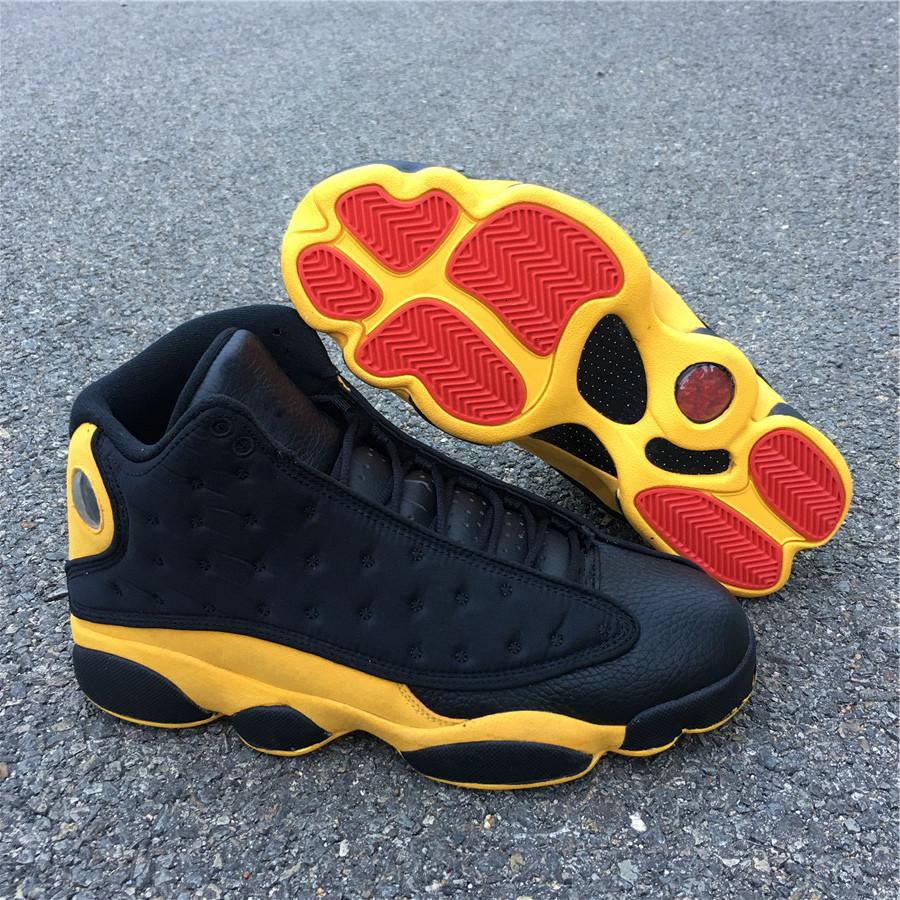 black \u0026 yellow 13s Sale Jordan Shoes