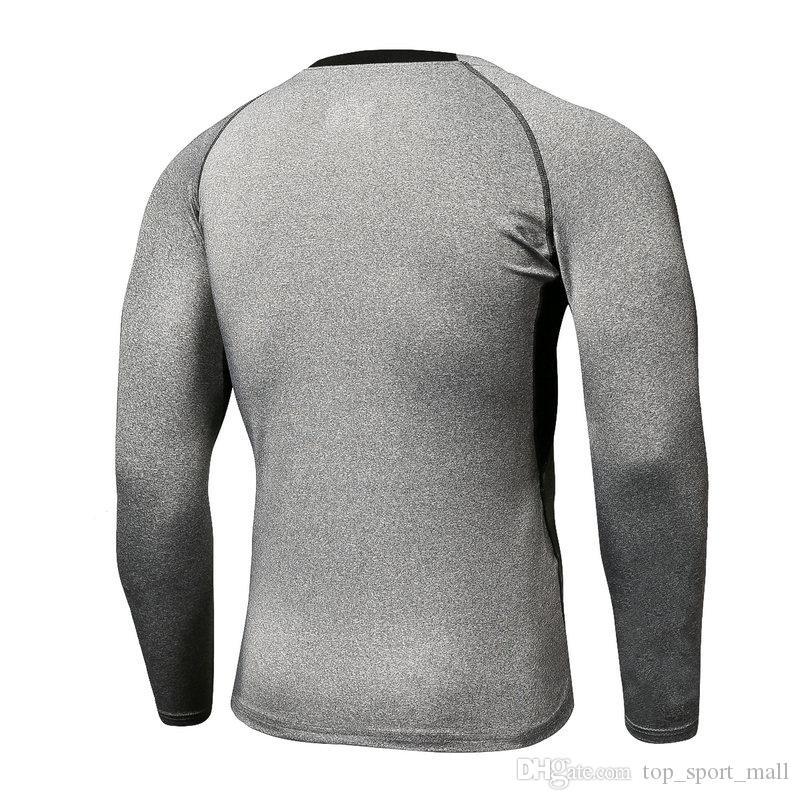 Novo estilo homem camisa de futebol esporte tshirt manga longa boa qualidade online venda 30