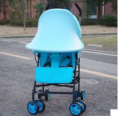 Baby Anti-UV Cloth Rayshade Stroller Rain Cover Windproof Rainproof Sun Protection Umbrella Awning Shelter Accessories Universal Baby Stroller Sunshade