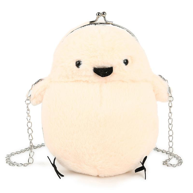 Hairy bag female 2 new Korean version of the cartoon cute chicken shoulder bag parent-child chain Messenger female...