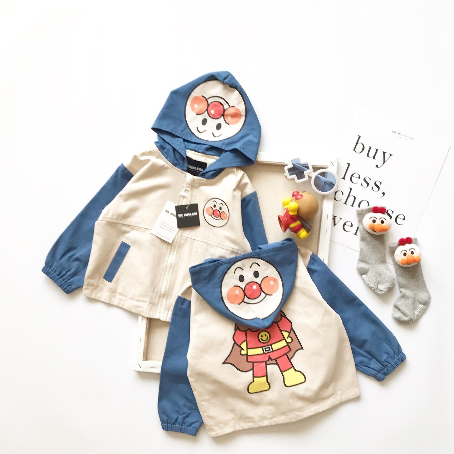 Tonytaobaby Vêtements Automne et Hiver Nouveaux garçons et filles enfants capuche en coton manteau Cartoon veste Enfants mignons filles Vestes