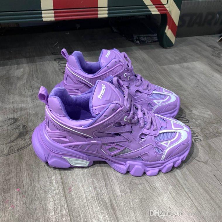 Balenciaga shoes popolare caldo di lusso dei pattini casuali delle donne degli uomini delle scarpe da tennis del progettista pattini di cuoio Lace Up scarpe misto rx200407 colori