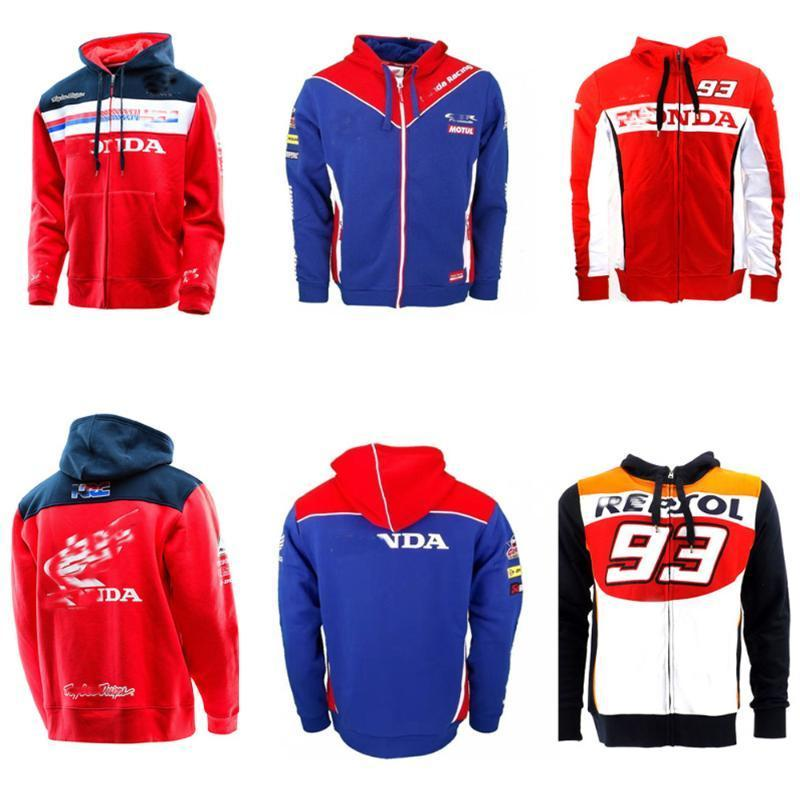 Sweatshirt Zipper hoodie Racing JACKET Suit Motorcycle Riding Sweater Coat Cotton MOTO GP FIT For HRC racing zipper Hooded