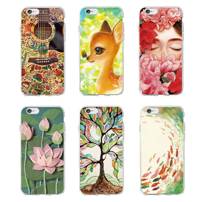 Fashion 3D Relief Pattern Flower Hot TPU Soft Silicone Shockproof Phone Case Cover For Apple iPhone 6 6S 7 8 Plus X Xs Max XR 11 Pro Max
