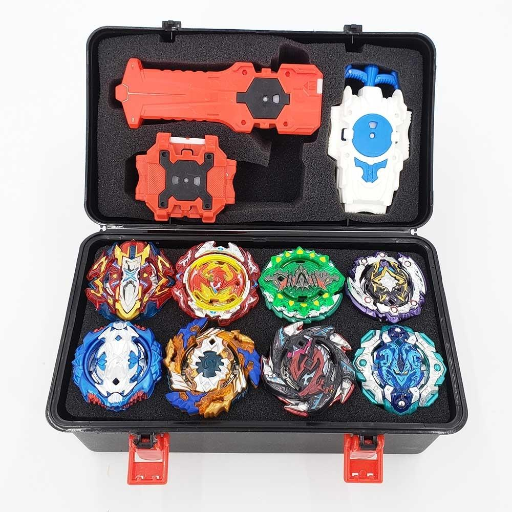 Top Beyblade Burst Bey Blade Toy Metal Funsion Bayblade Set Storage Box With Handle Launcher Plastic Box Toys For Children T191019