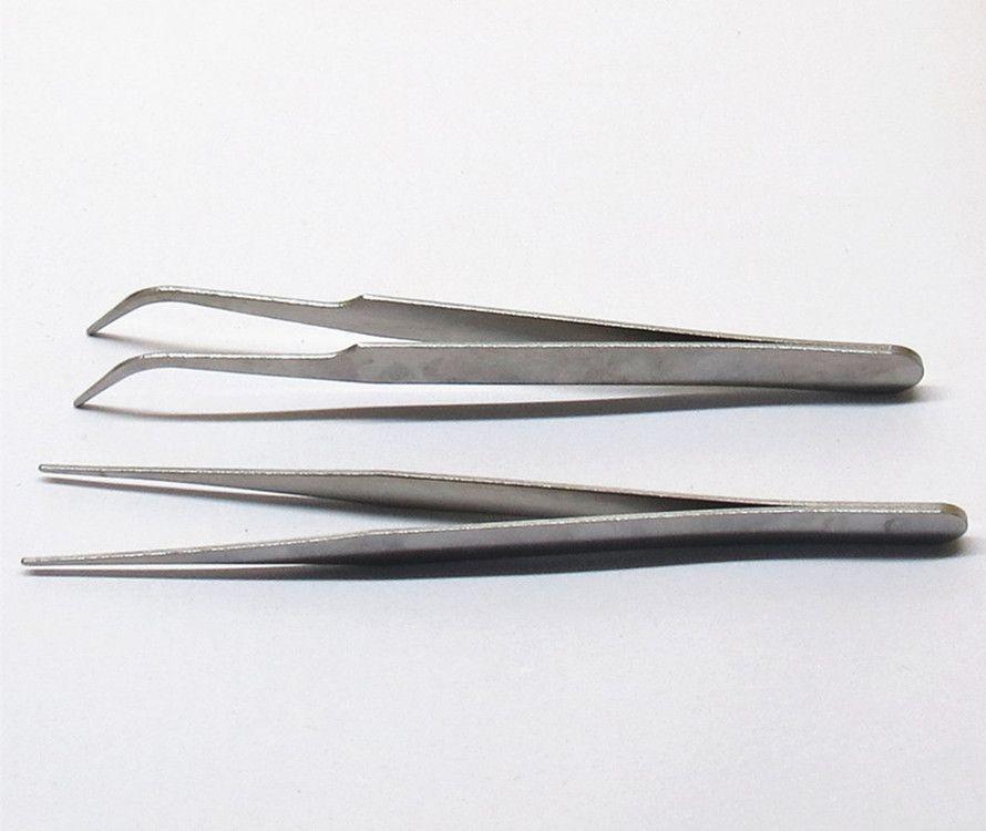 Edelstahlspitze Ellbogenpinzette elektronisches Gerät Reparatur Schönheit Nagel Multi-Fleisch Gartenbauprodukte DIY Verteilung Werkzeuge