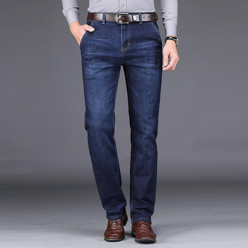 2020 Frühling und Herbst heiße Verkauf-Männer Geschäft Klassisch Freizeit Jeans Grund Arten Gerade Hose Qualität plus Größe 28-42