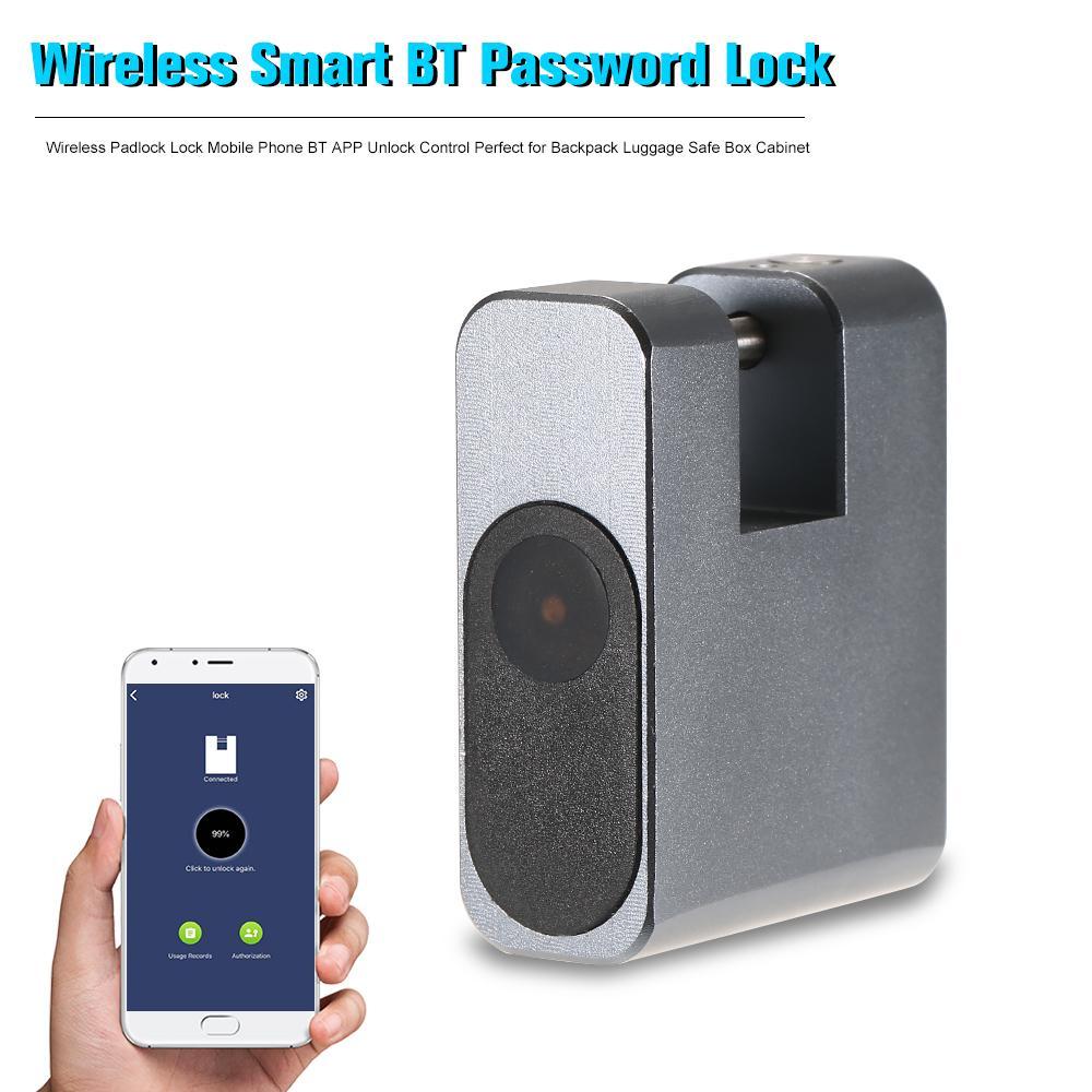 قفل الذكية بدون مفتاح قفل مضاد للسرقة قفل لاسلكي قفل الهاتف المحمول BT APP فتح التحكم مثالية لحقيبة الظهر الأمتعة آمنة