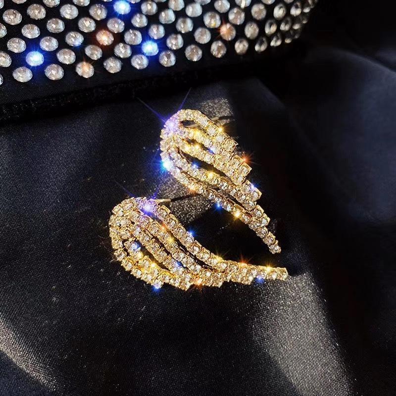 925 Серебряная Булавка Мода Ангел Горный Хрусталь Маленькие Серьги Крыла Для Женщин Шарм Женщины Серьги Ювелирные Изделия