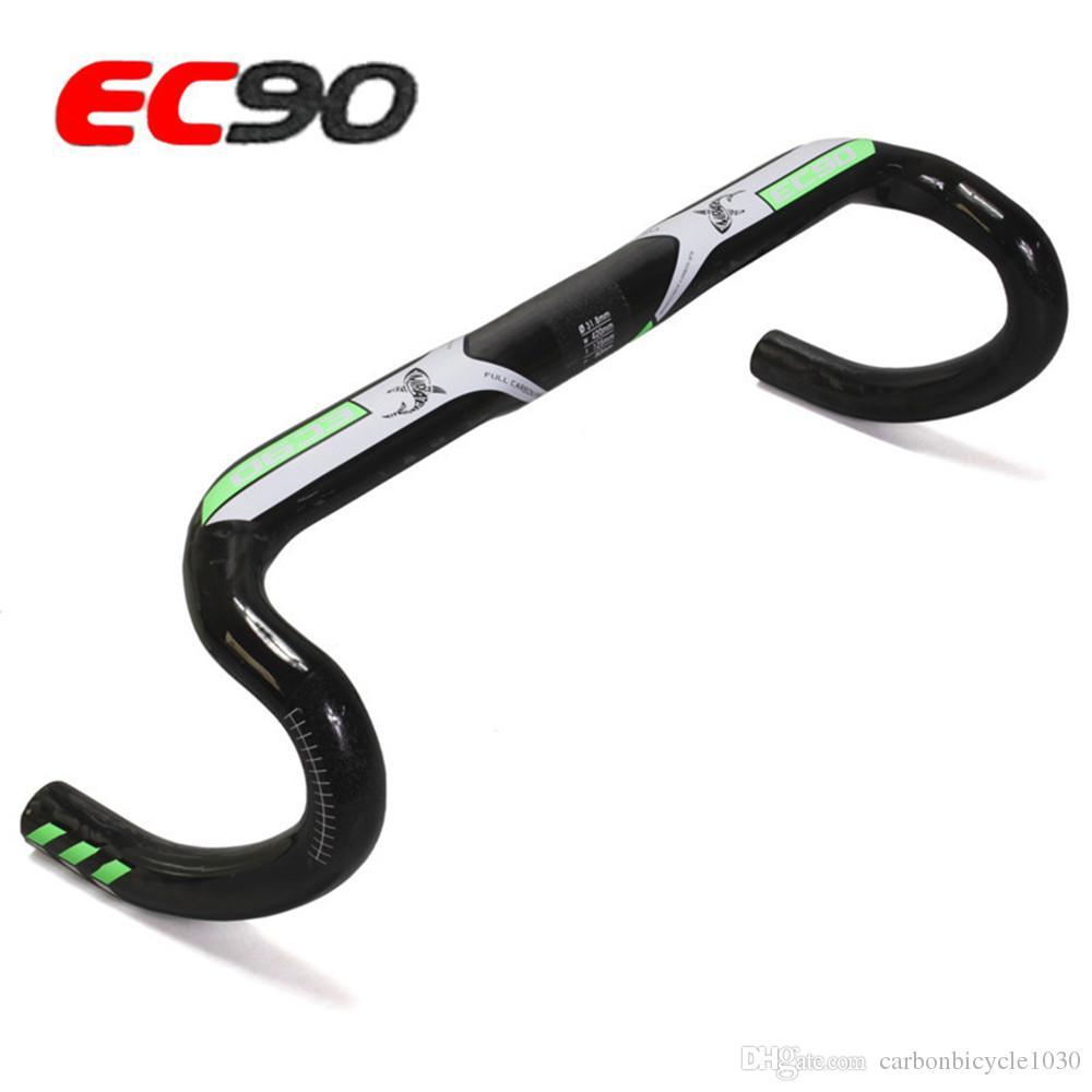 2019 EC90 Fibra de Carbono total Guidão de bicicleta de estrada da bicicleta guiador Stem Handle jogando entrega UD Matt Carbon Guiador gratuito