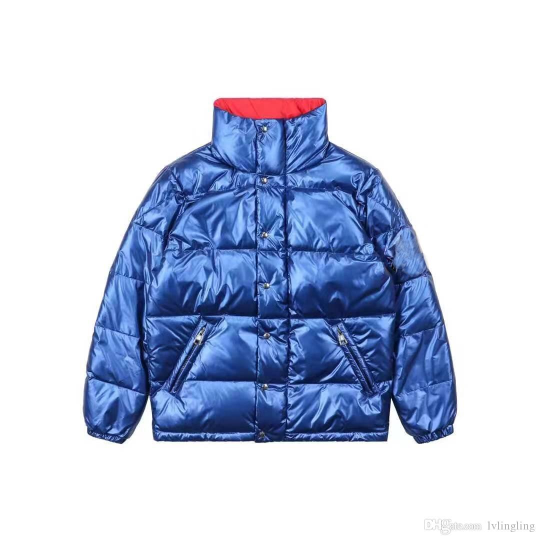 Adam kadının Aşağı Parkas ceket kış açık giysiler Kalın sıcak yeni kayak takım Avrupa otantik İngiltere Kısa Casual Gevşek MONB60ZZZ