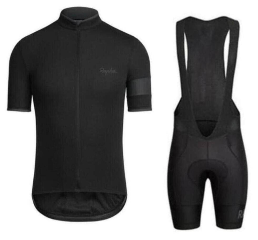 NOVO Rapha verão homens de manga curta desgaste cycling jersey bicicleta roupa jardineiras roupas SET MTB uniforme Pro Cycling bicicleta Maillot zefengst