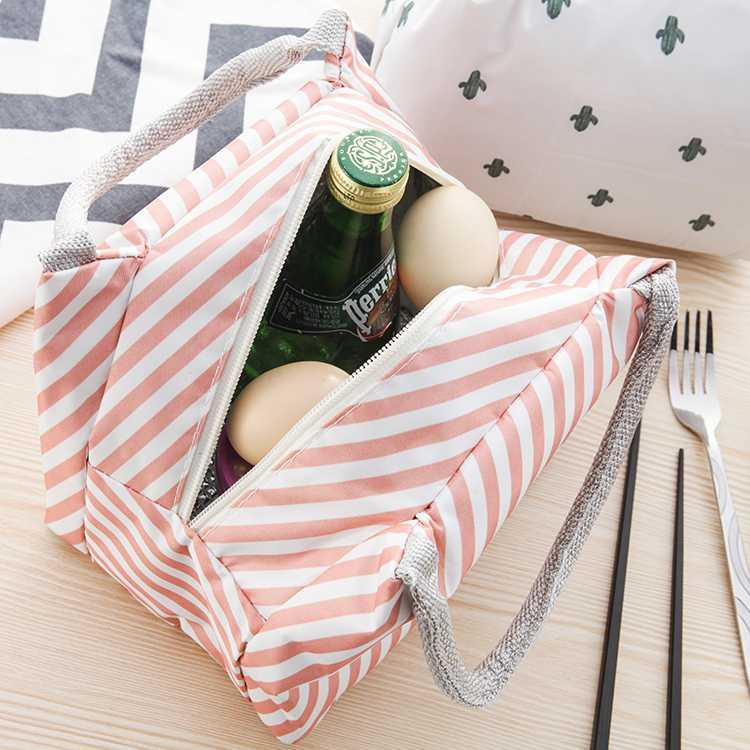 Portable Diaper Bag Lunch Bag Waterproof Thermal Insulated Handbag Bento Pouch Dinner Container School Storage Tote Bags