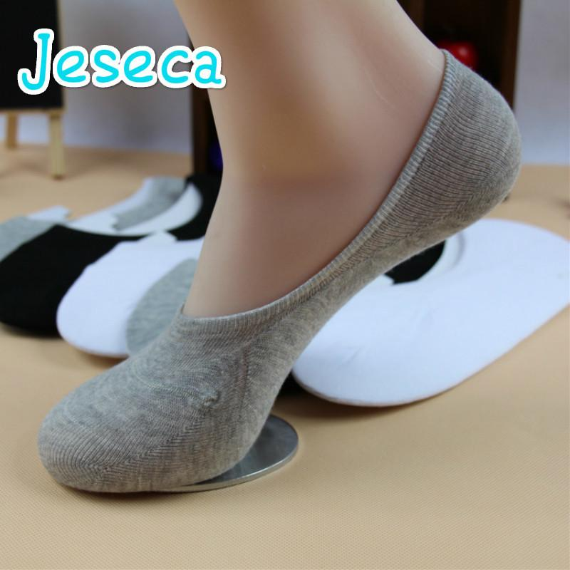 Unisex Männer Frauen Low Cut Knöchel Beiläufige Weiche Baumwolle Socke Loafer Boot Rutschfeste Unsichtbare No Show Socken 3 Farben C19041601
