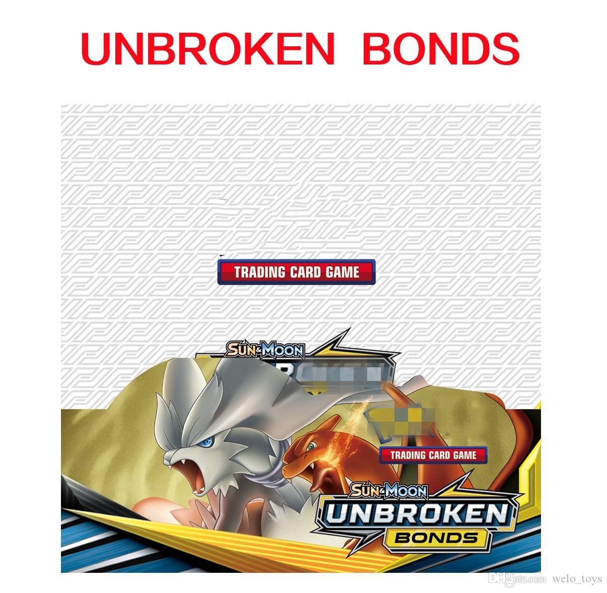 Sun&Moon UNBROKEN BONDS English Trading Card Anime Playing Pocket Cards Games Wholesale 324pcs Kids Toys TEAM UP