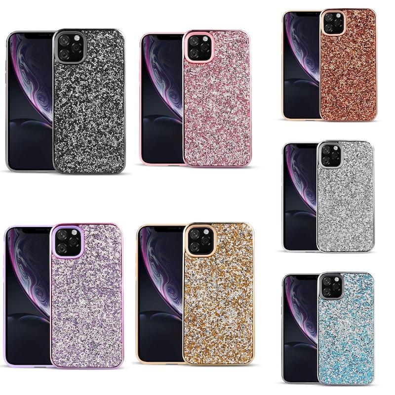 Premium bling 2 in1 di lusso del Rhinestone del diamante di scintillio del telefono iPhone di caso per 11 Pro Max XR Xs Max X 8 7 6 LG K30 K40 2019 Stylo5