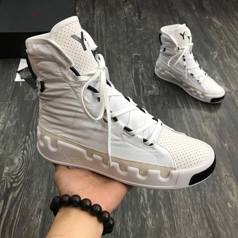 2019 New Fashiony3 Freizeitschuhe Stiefel Kanye West Y-3 Rot Weiß Schwarz Hoch-Spitze Kinder Damen Herren Sneakers Wasserdichte echtes Leder