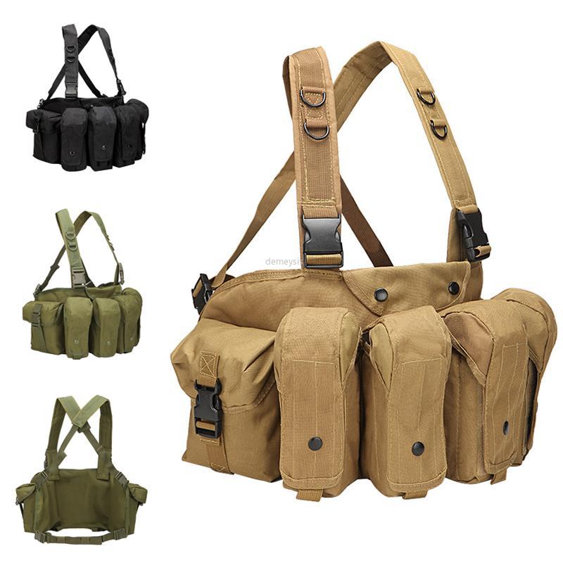 Disparos Ejército AK Revista bolsas chaleco ajustable Paintball Chaleco exterior combate táctico equipo de caza