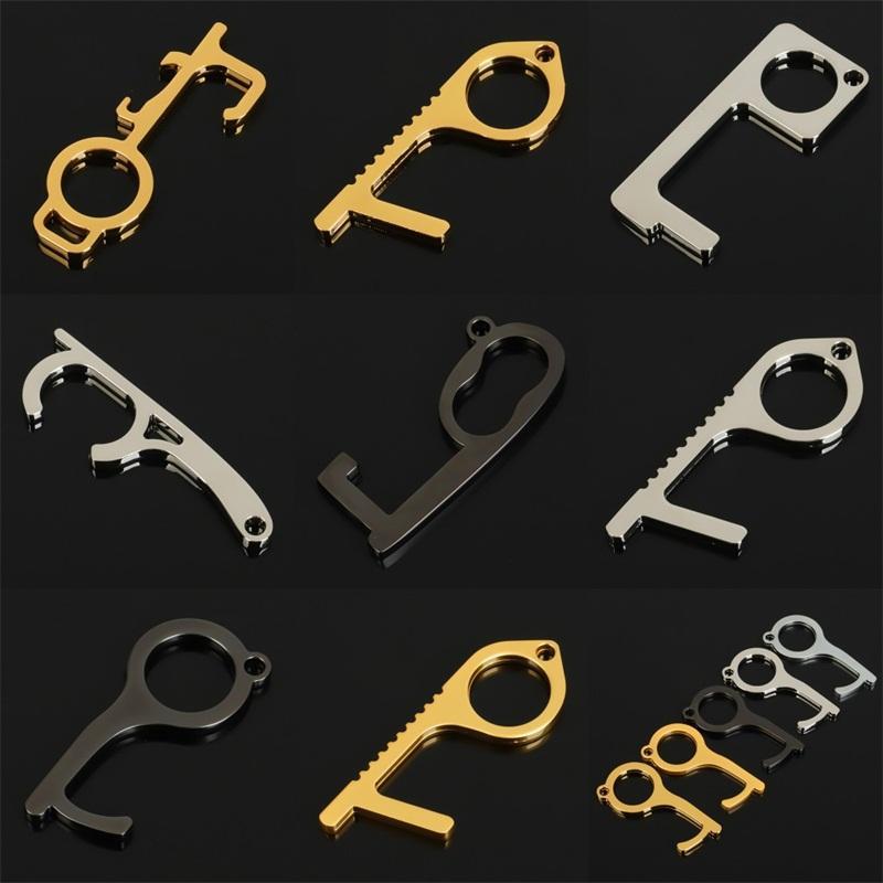 Металлические двери открывалка Key Chain Daily Анти Сенсорные цепи без контакта Пряжки Профилактики Различных стилей пробного заказа 2On B2