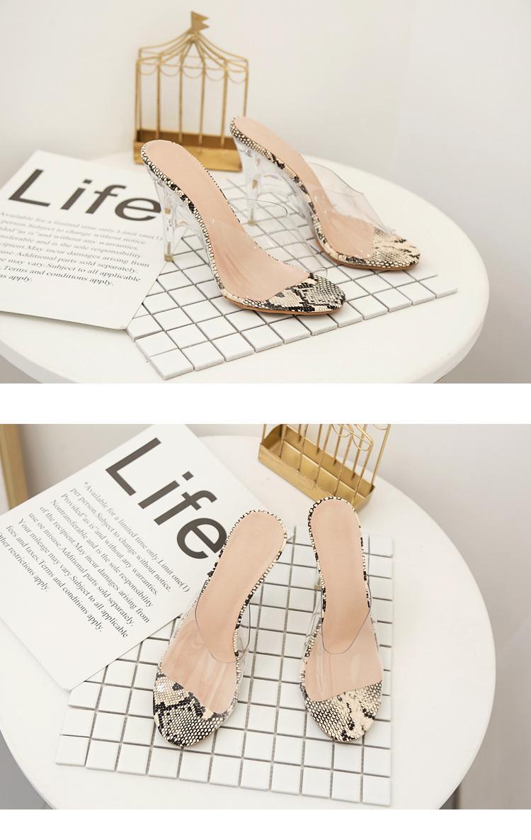 Frauen PVC-freie transparente Pumps Sandalen Perspex Heel Stilettos High Heels Punkt Zehen Schuhe Dame-Partei-Kleid-Schuhe yitaue