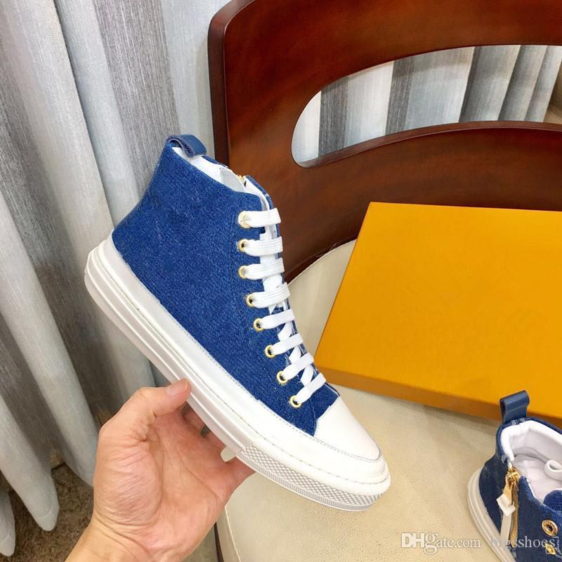 progettista scarpe di tela Donne Uomo Unisex Lace Up casuali stars calzature di lusso della moda classica delle scarpe da tennis di fabbrica promozionale dc190619 prezzo