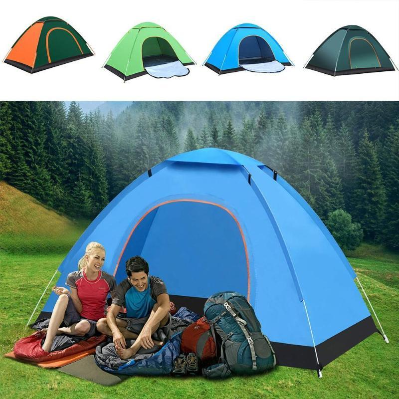 Automatique jusqu'à l'extérieur de la famille Camping Tente 1 2 3 personnes Plusieurs modèles Easy Open Camp tente Ultraléger instantanée Ombre Anti-UV