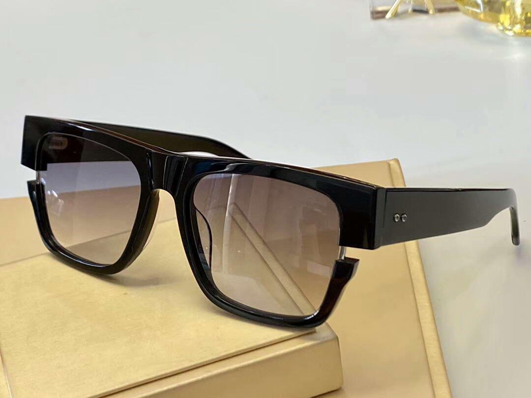 Cadre gris 122 lentilles carrées noires lunettes de soleil or lunettes de soleil lunettes de soleil pour hommes Box nuances avec nouveau jaune sjbbn