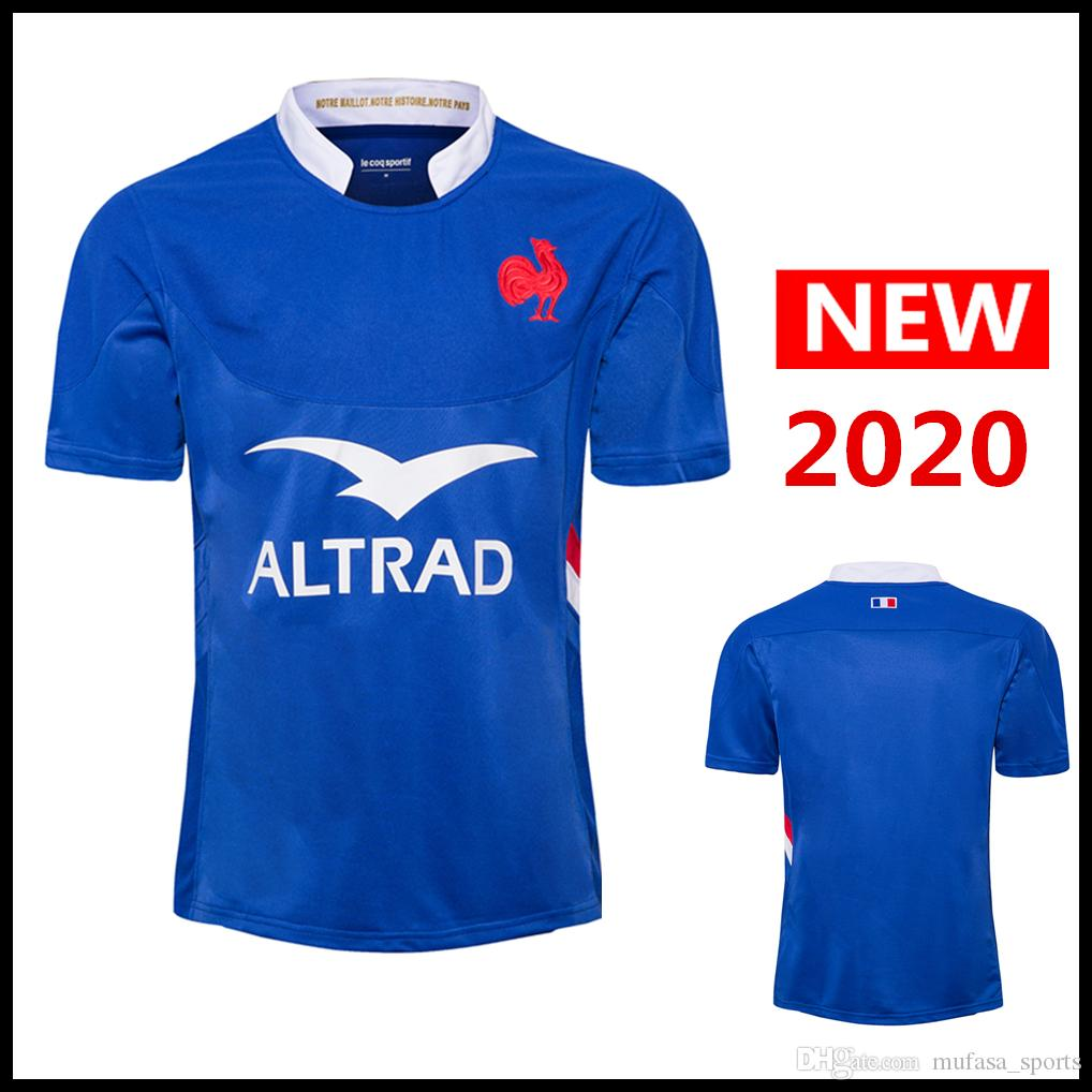 Özel ad ve numara 2020 Fransa ANA Rugby Formalar milli takım Fransa Gömlek Lig Rugby forması