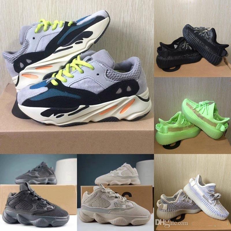 أحذية أطفال جديد كاني ويست V2 موجة عداء 700 فتاة الاحذية 500 طفل الطفل مدرب بوي أحذية رياضية للأطفال أحذية رياضية أسود أحمر