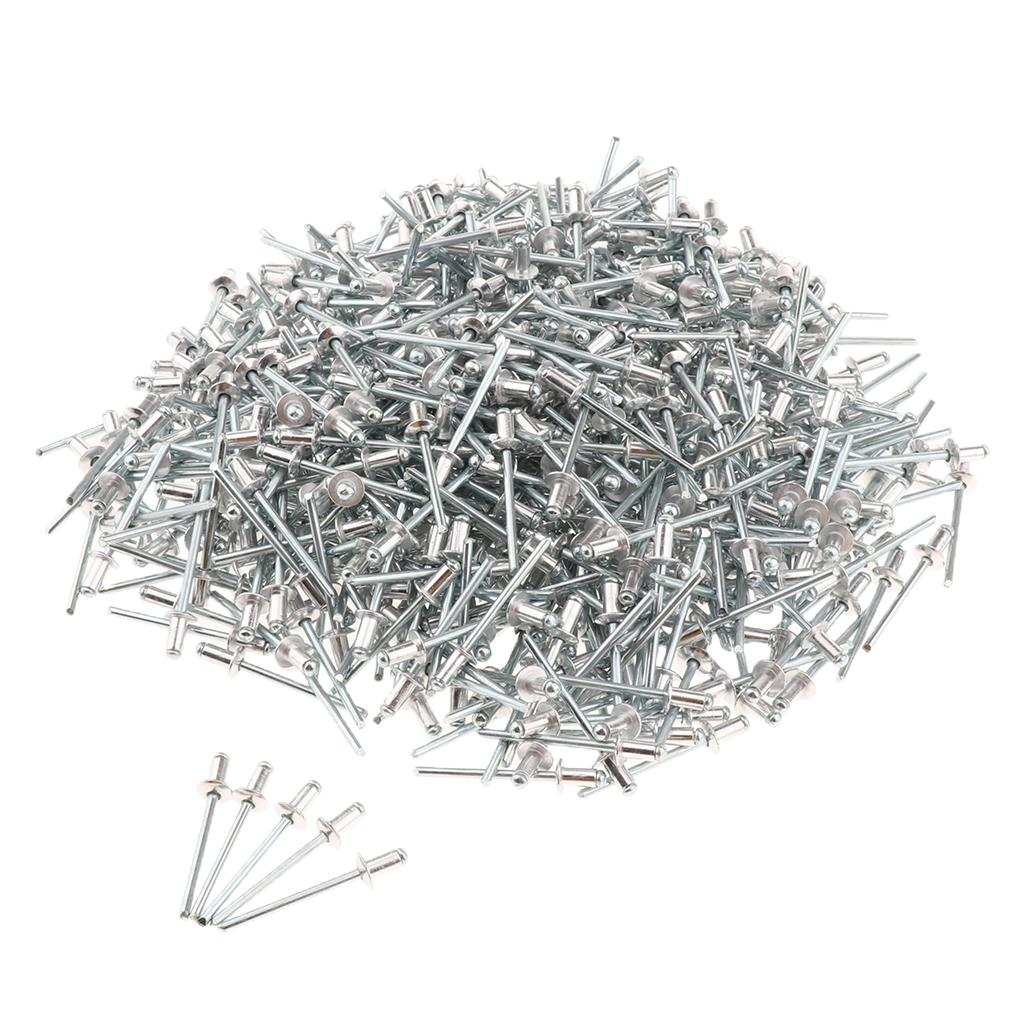 1000 PACK DOME HEAD POP RIVETS OUVERT BLIND INOX 4 mm