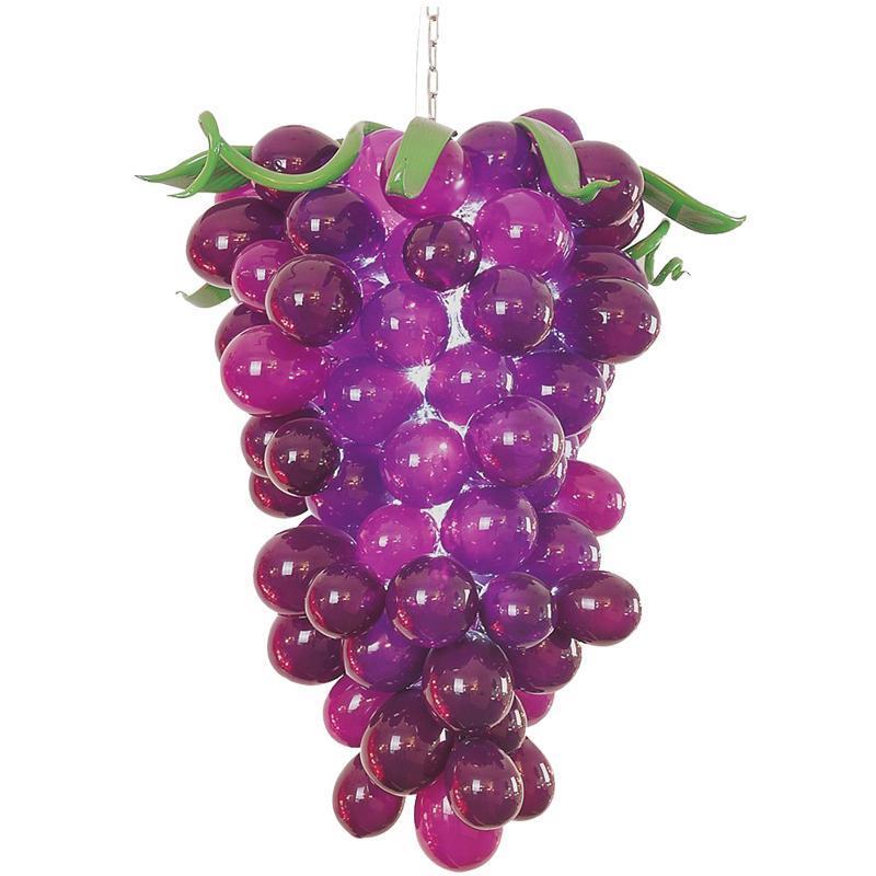 Kitchen Decor Modern Pendant Chandelier Light Hot Sale Blown Glass Chandelier Art Hand Made Grape Lights Free Shipping