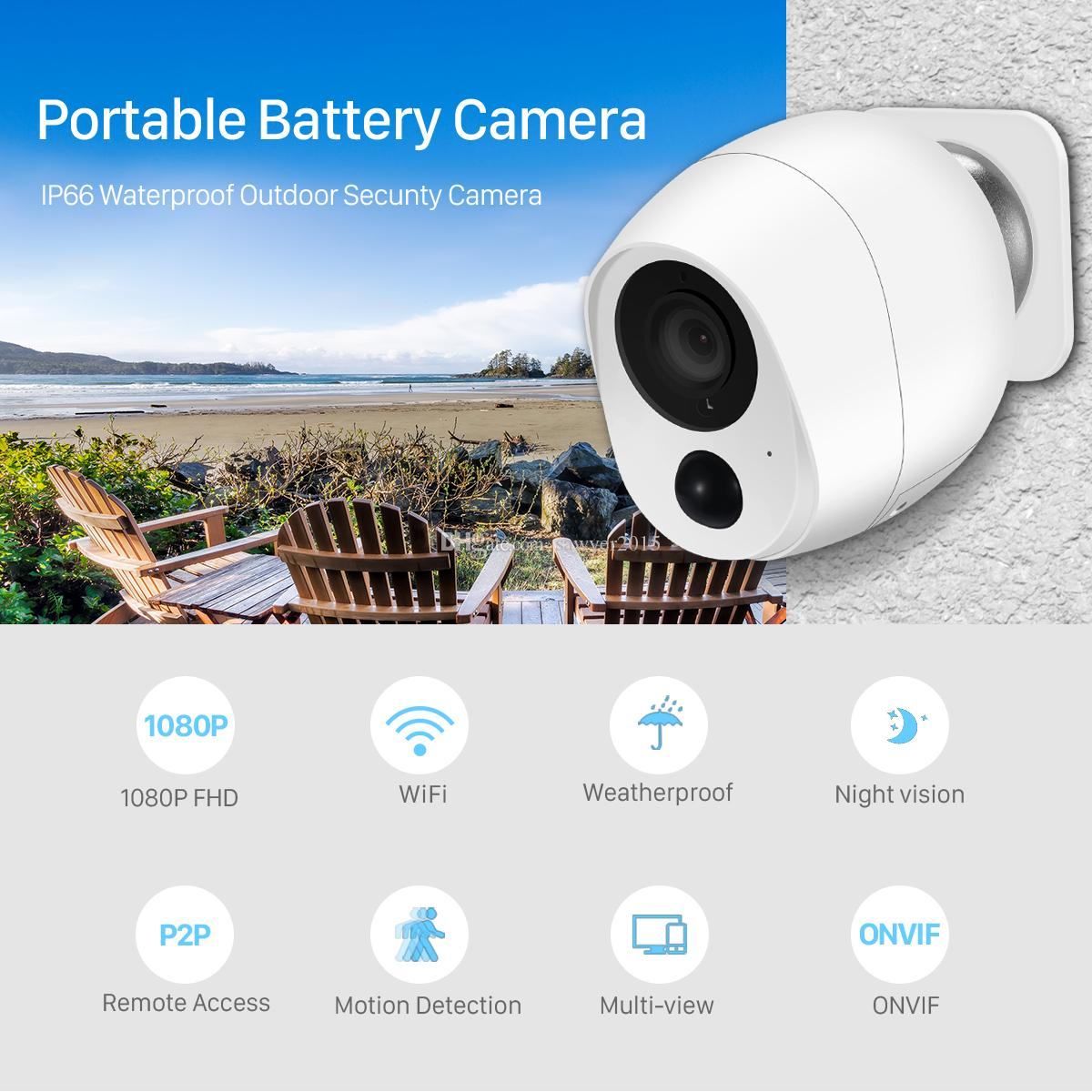 1080P Low Power Mini Battery Camera Outdoor Wifi IP Camera 2MP PIR Motion Detect Smart Home Wireless Security CCTV Camera iCSee