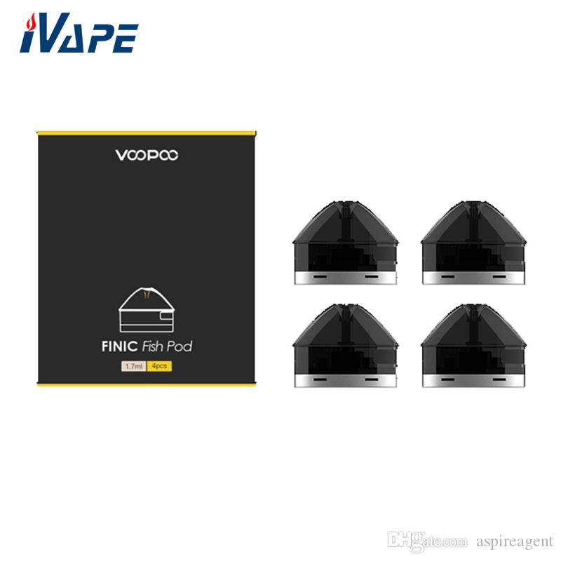 Autentico VOOPOO FINIC Fish Replacement Pod Cartridge 1.7ml Side-Filling 1.6ohm Coil ottimizzato per MTL Vaping Finic Fish Kit