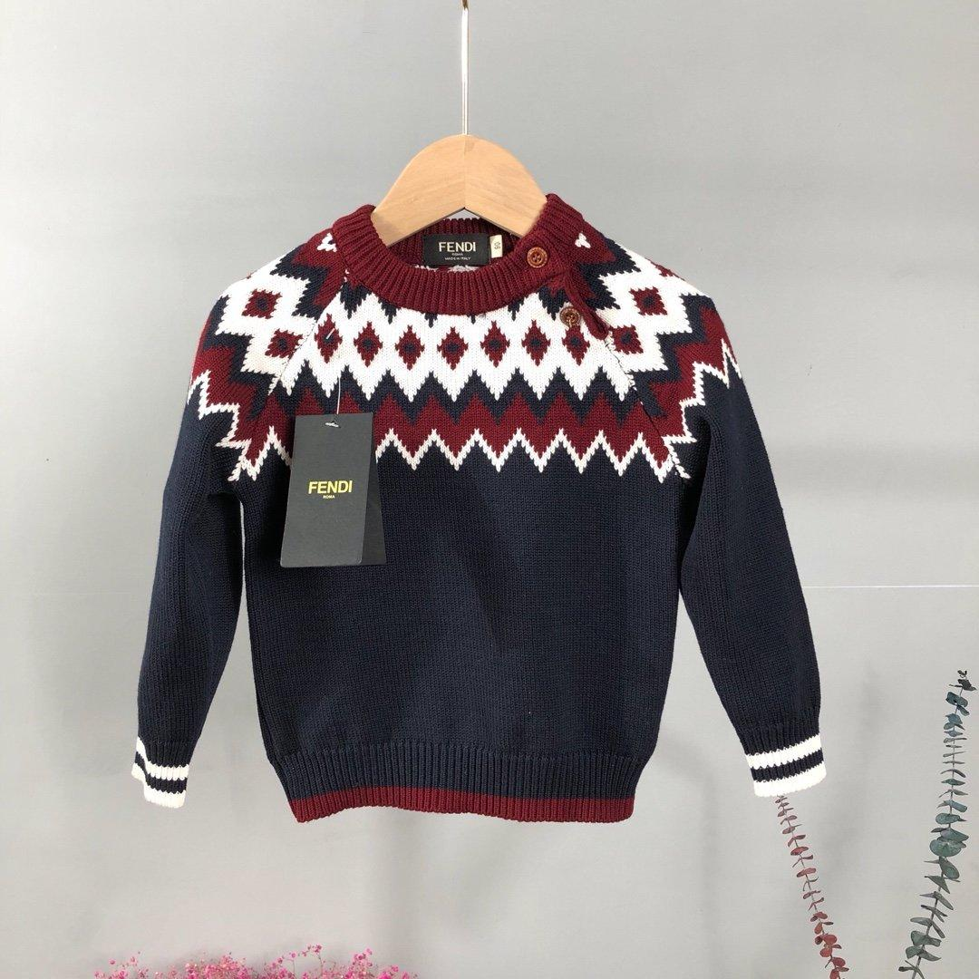 Kid Boy Girl Long Sleeve Rainbow Knitted Tops Sweater Cardigan Coat for 1-5 Y