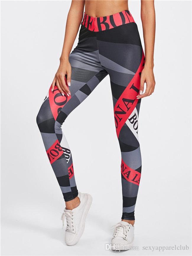 Leggings de sport Femmes Pantalons de yoga Leggins Fitness Sportswear Femmes Leggings de gymnastique Collants de course flexibles et souples